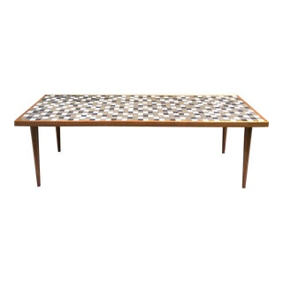 Mid-Century Modern Tile Top Coffee Table
