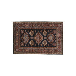 Kazak Wool Rug- 4' x 6'