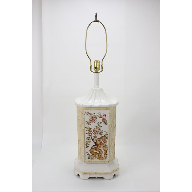 Mid-Century Ceramic Chinoiserie Lamp - Image 2 of 5