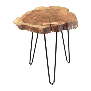 Solid Acacia Wood Hairpin Stool