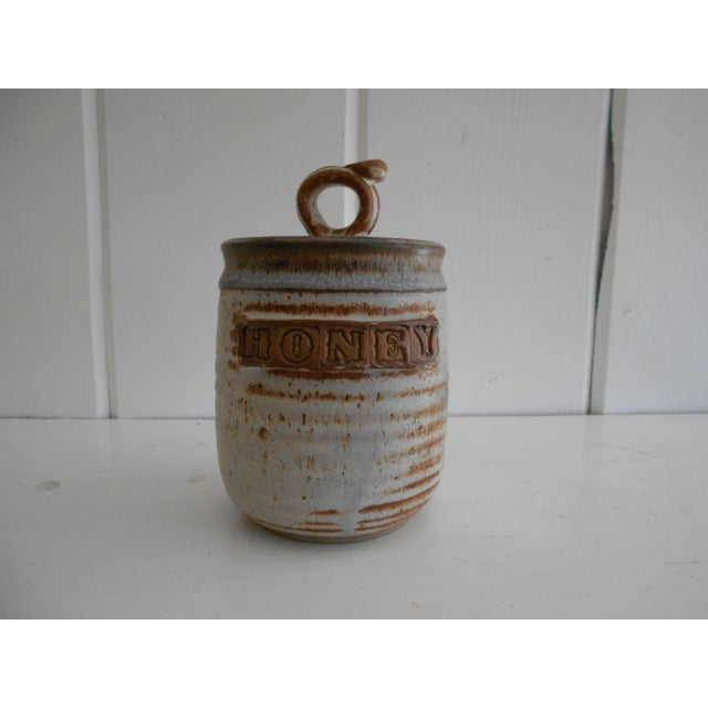 Rustic Pottery Honey Pot - Image 2 of 8