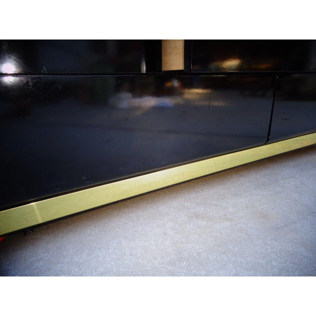 Lane Black Lacquer Hollywood 1987 Chest - Image 11 of 11
