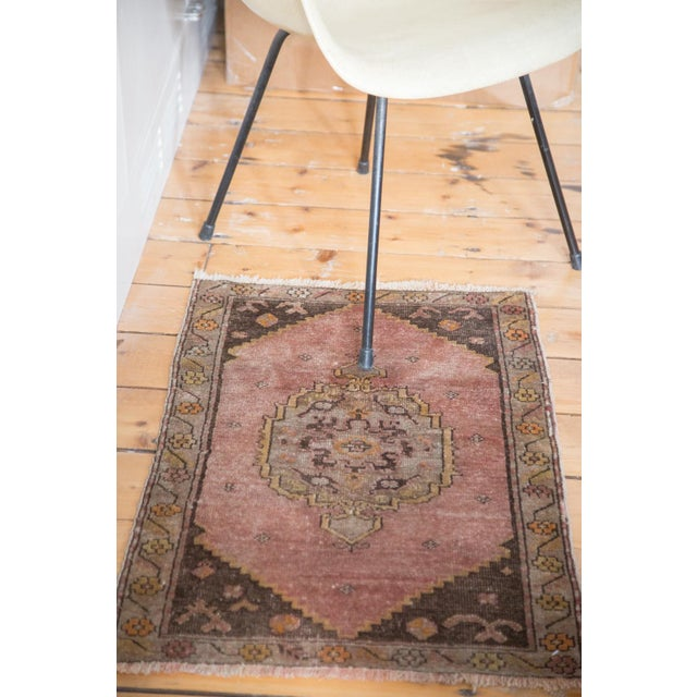 "Image of Oblong Distresed Oushak Rug Mat - 1'9"" x 2'8"""