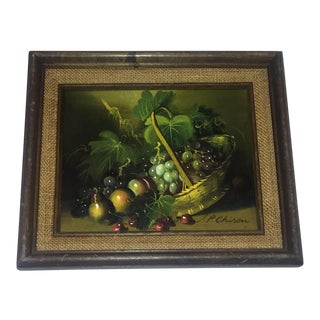 P. Chiron Still Life Oil Painting