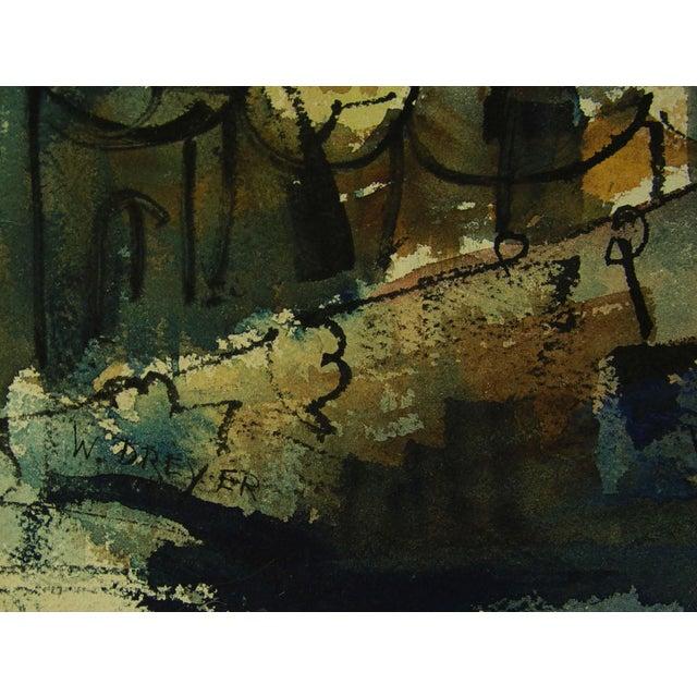 Mid Century Modern Cityscape Watercolor Painting Chairish