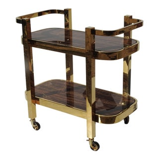 Modern Design Rolling Bar Cart With Marble Inserts