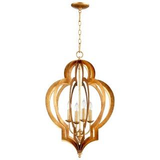 New Cyan Design Vertigo Gold Leaf Chandelier