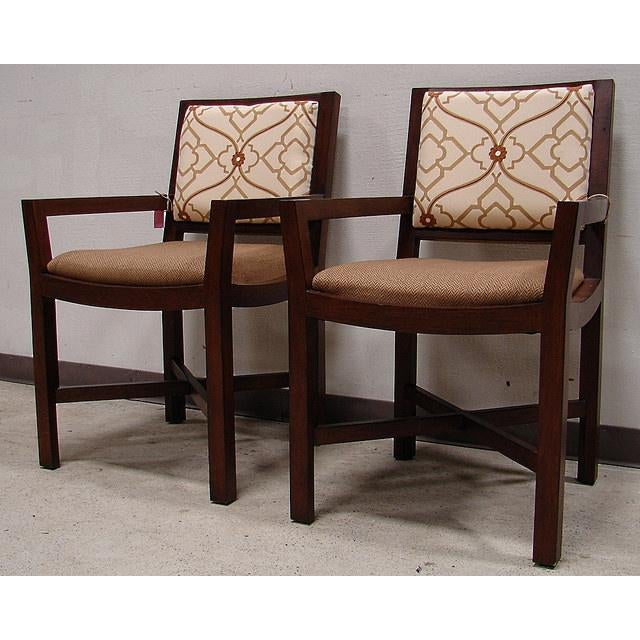 Two Tone Upholstered Dining Chairs A Pair Chairish