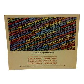 "Vintage Movie Poster ""Bob & Carol & Ted & Alice"" Natalie Wood - Dyan Cannon - 1969"