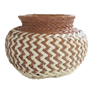 Woven 2-Tone Basket
