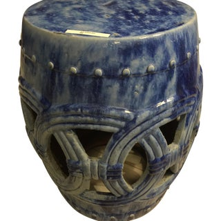 Chinese Blue Garden Stool