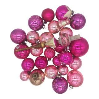 Vintage Hand Blown Mercury Glass Ornaments - Set of 26