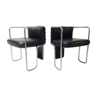 Poltrona Frau Leather Chairs- A Pair