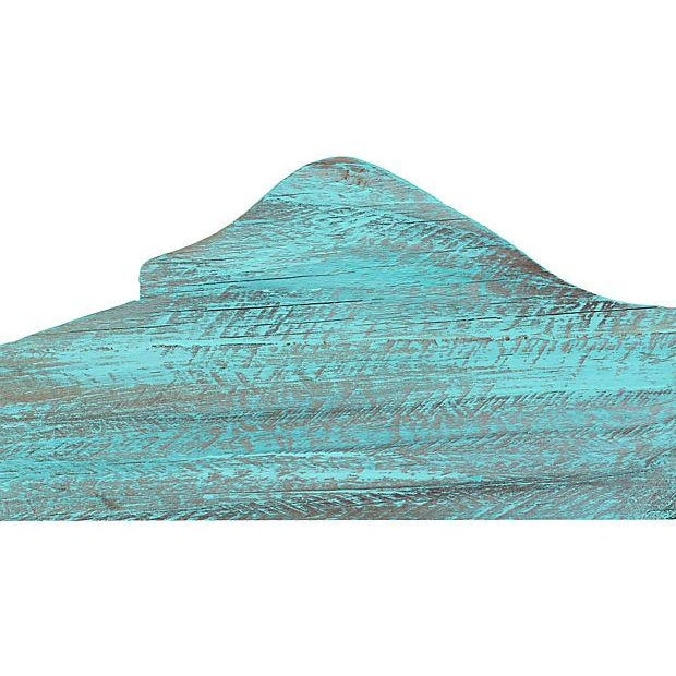 Turquoise Painted Reclaimed Wood Fish Cutout - Image 3 of 4