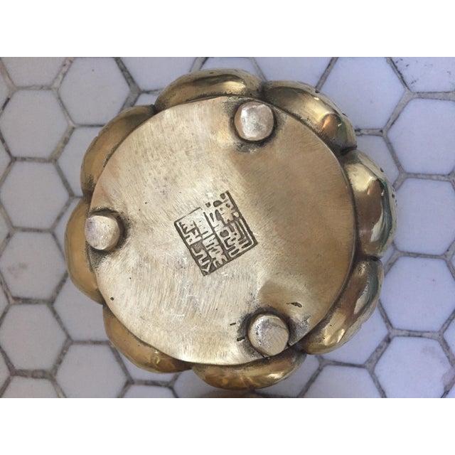 Hands on Lotus Brass Incense Burner - Image 8 of 9