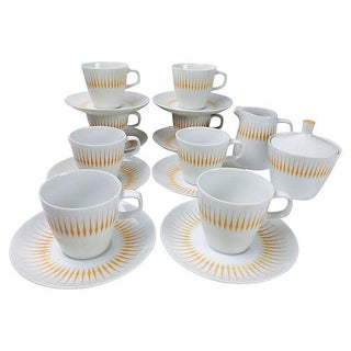 Midcentury Design Tea Set - Set of 8