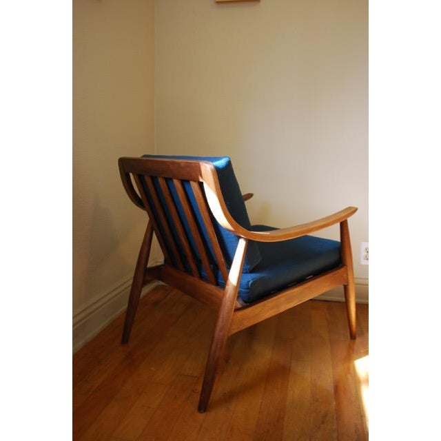 Danish Modern Vintage Lounge Chair With New Upholstery by Peter Hvidt - Image 6 of 8