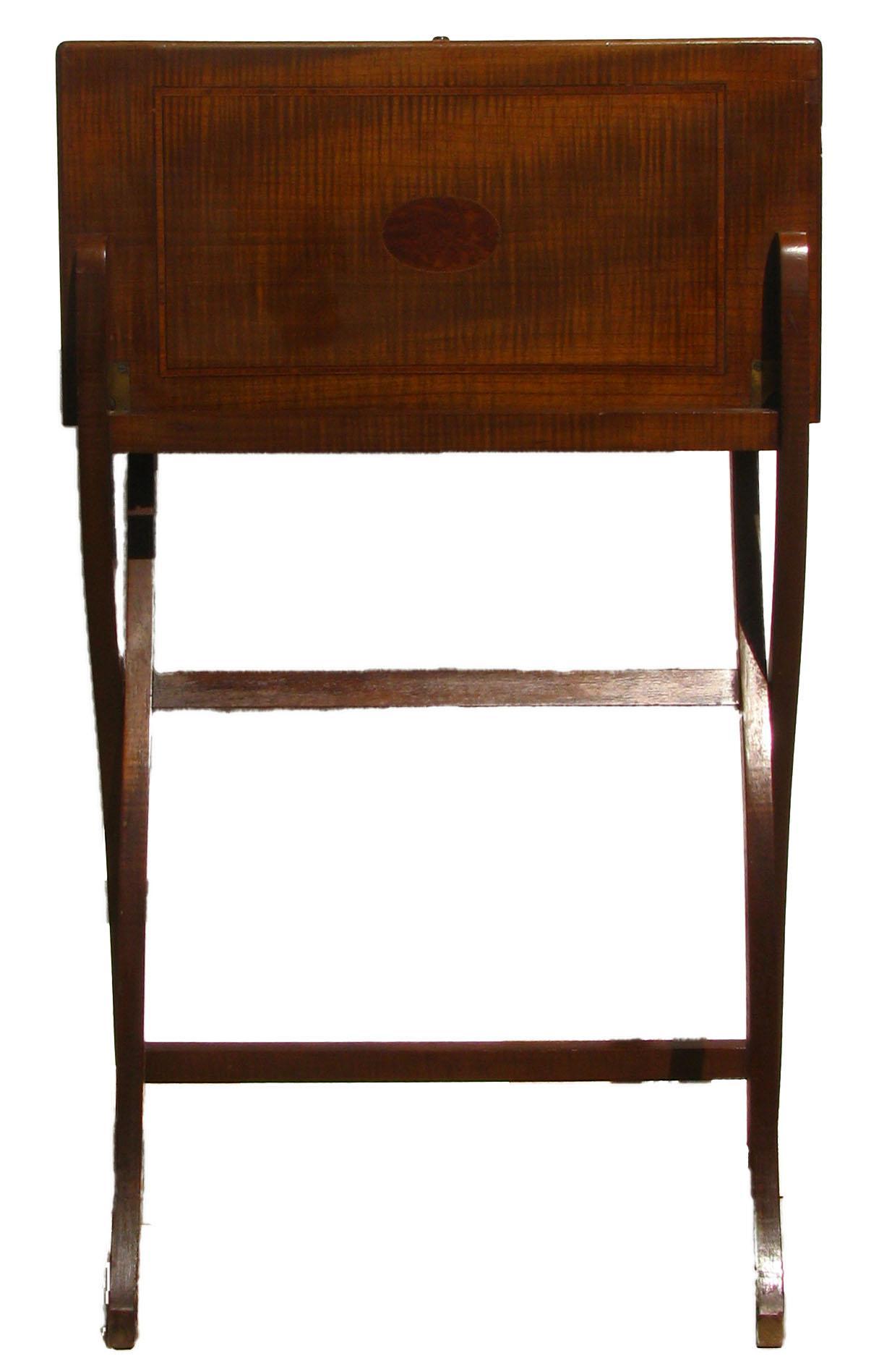 image of 19th c english folding campaign desk
