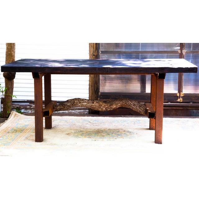 Wabi-Sabi Yakisugi Wood Dining Island Table Console - Image 2 of 11