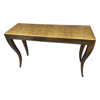Gold-Tone Console Table