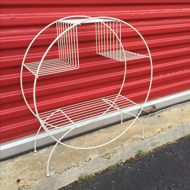 Mid Century Modern Wire Plant Stand - Image 3 of 6