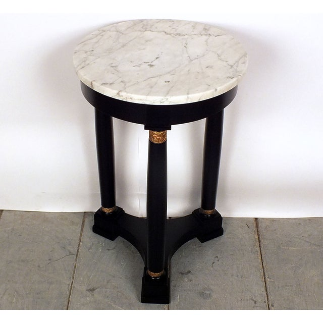 Image of French Early 1900s Empire-Style Round End Table