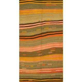 Apadana Multi-Color Stripe Kilim Arrows - 5' x 10'