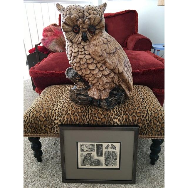 Mid-Century Ceramic Owl Lamp - Image 8 of 10