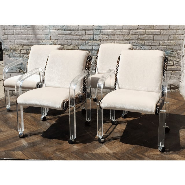 Lion in Frost Lucite Chairs - Set of 4 - Image 2 of 6