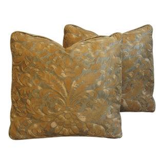 Square Fortuny Caravaggio Print Pillows - A Pair