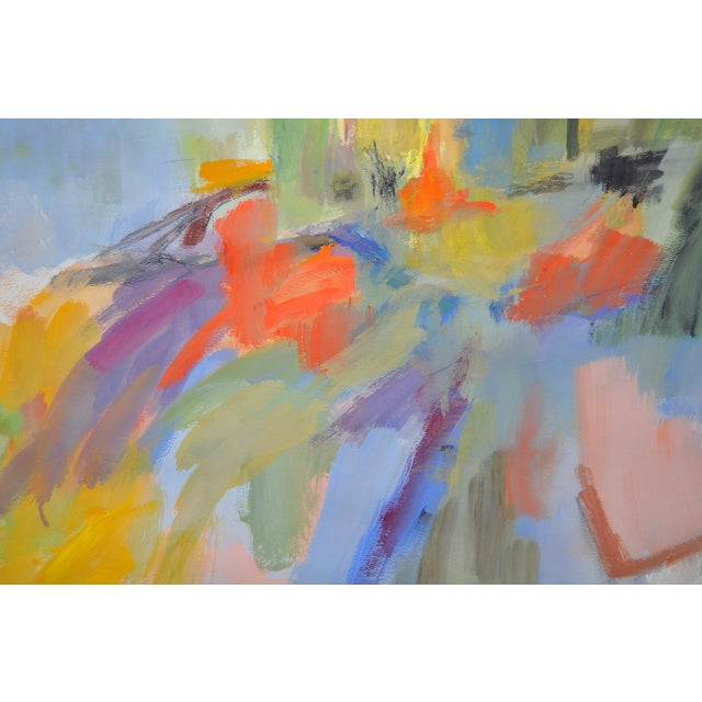 Colorful Modernist Abstract Painting C.1980's - Image 3 of 4