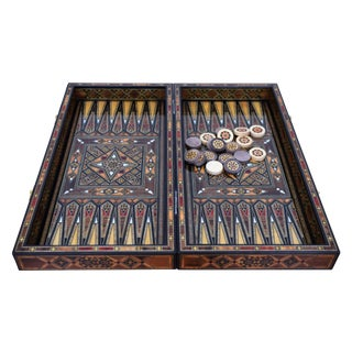 Syrian Handmade Backgammon & Chess Board