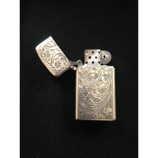 Sterling Silver Zippo Lighter - Image 2 of 3