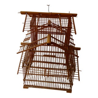 Mid-Century Decorative Bamboo Bird Cage