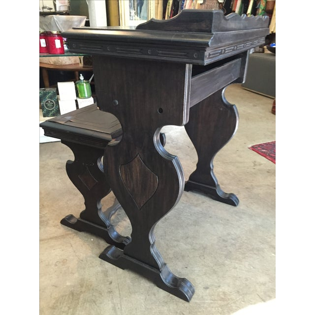 Vintage Writing Desk and Nesting Bench - Image 3 of 11