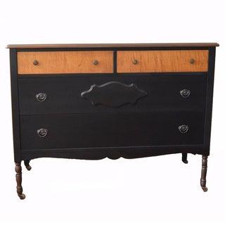 Repurposed Antique Black Dresser
