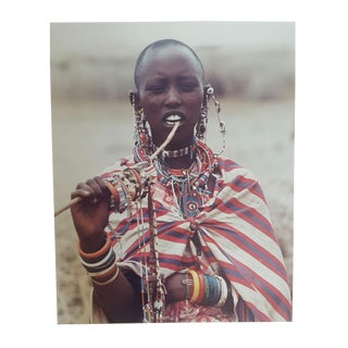Vintage African Jewelry Merchant Photograph