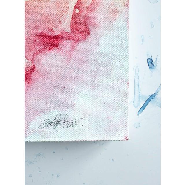 """Ellen Sherman """"Water Lilies"""" Original Painting - Image 3 of 5"""