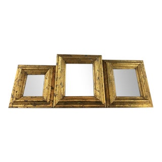Gold Framed Mirrors - Set of 3