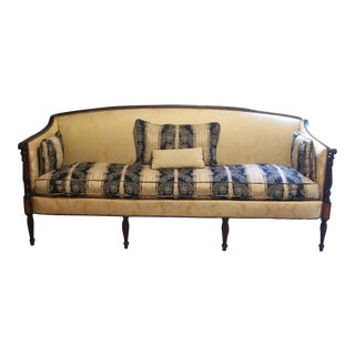 Vintage French Provincial Neoclassical Settee Sofa
