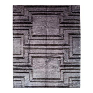 "Contemporary Hand Knotted Area Rug - 8'2"" X 10'1"""
