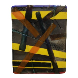 Colorful Abstract Enamel Wall Art