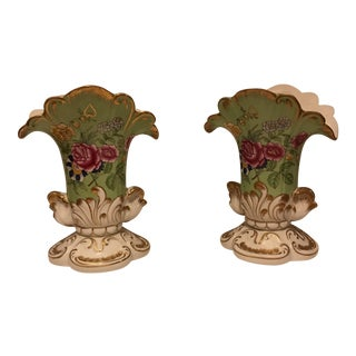 Chelsea House Vases -- A Pair