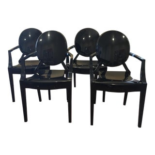 Kartell Louis Ghost Chairs - Set of 4