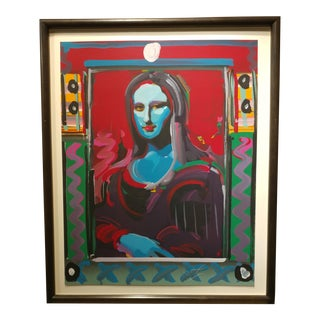 Peter Max - Mona Lisa Mixed Media