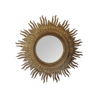 Vintage 1970s Gold Sunburst Mirror