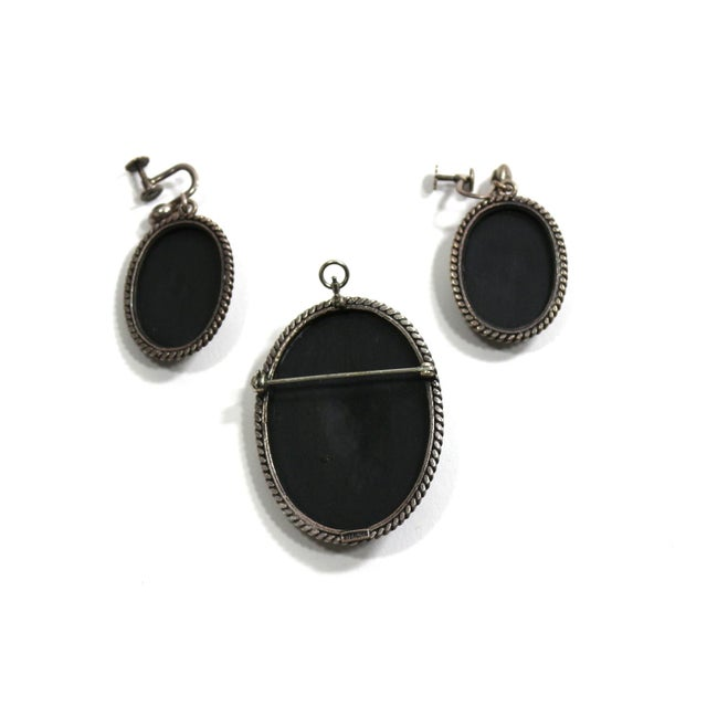 Image of Victorian 1890s Black and White Jewelry Set