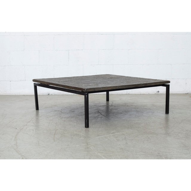 Square Coffee Table Stone: Square Stone Top Coffee Table