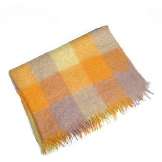 Yellow Plaid Blanket Wool Blanket