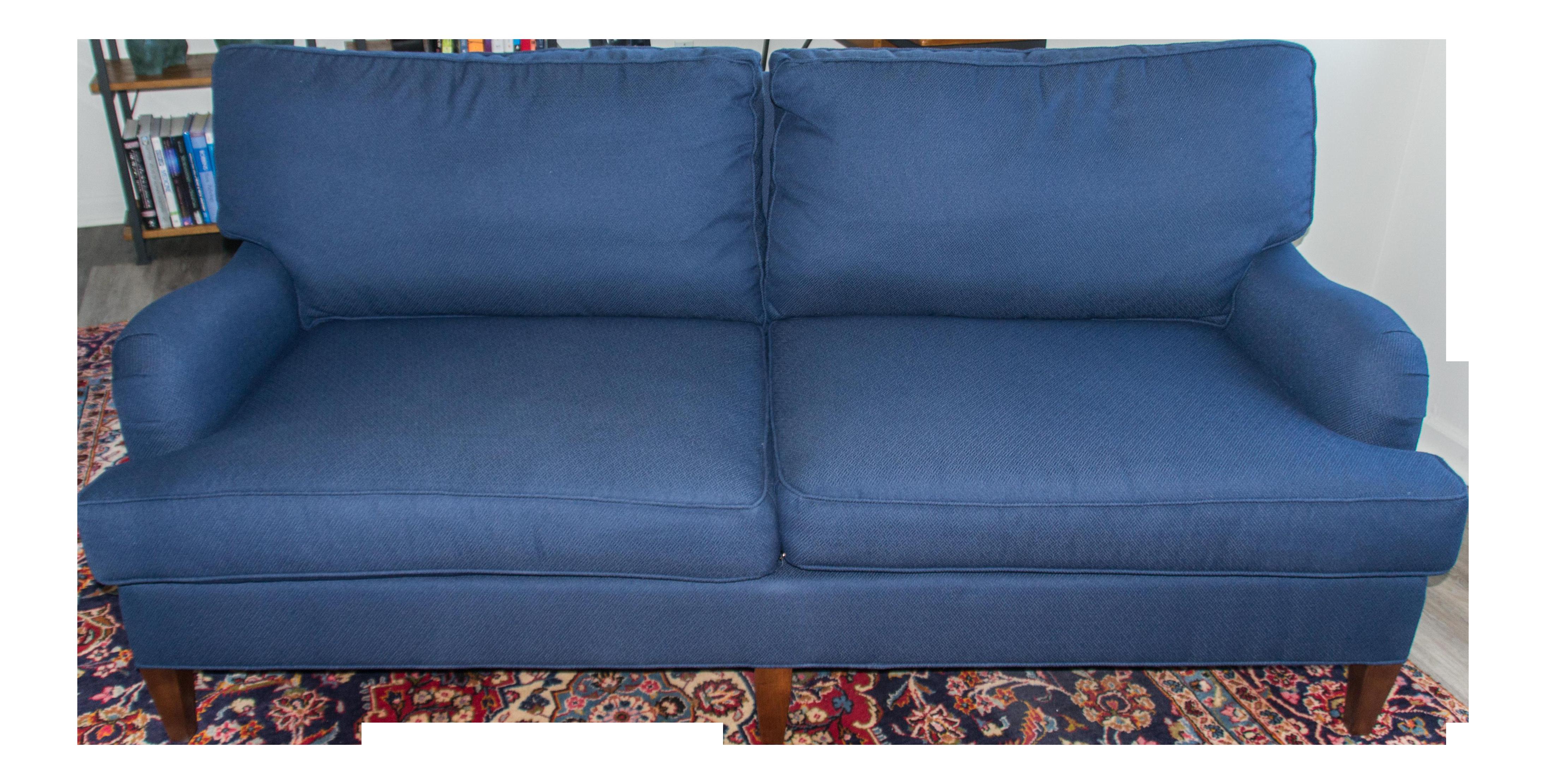 cr laine blue custom couch